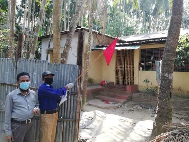 কক্সবাজার সদরের জালালাবাদে একটি বাড়িকে লকডাউন ঘোষণা