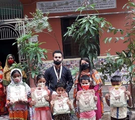 ময়ূরপঙ্খী সংস্থার উদ্যোগে সুবিধাবঞ্ছিতদের মাঝে ঈদ উপহারসামগ্রী প্রদান