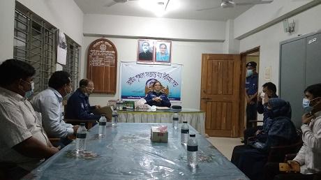 বাইশারী তদন্ত কেন্দ্র পরিদর্শন ও স্থানীয় লোকজনের সাথে বান্দরবান পুলিশ সুপারের মতবিনিময়