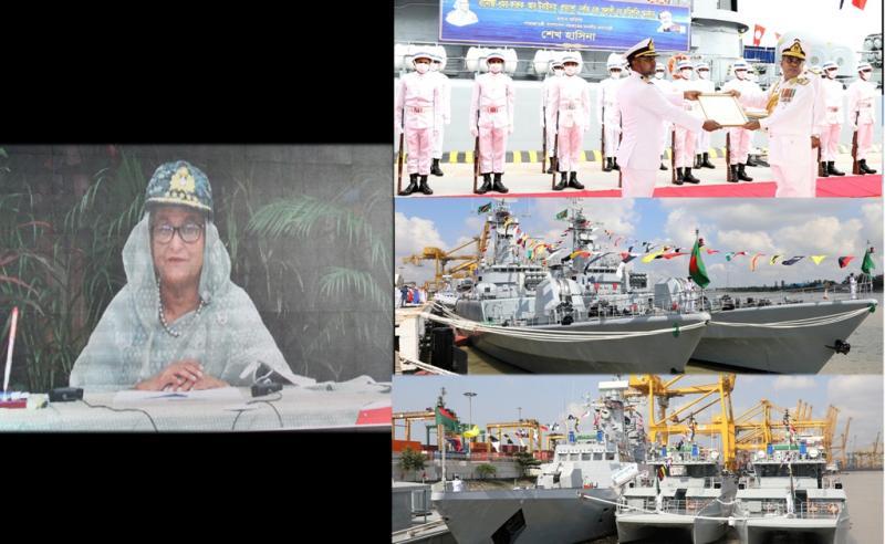 দেশের সমুদ্র সীমা রক্ষার জন্য নৌবাহিনীকে শক্তিশালী করে গড়ে তুলছি : প্রধানমন্ত্রী