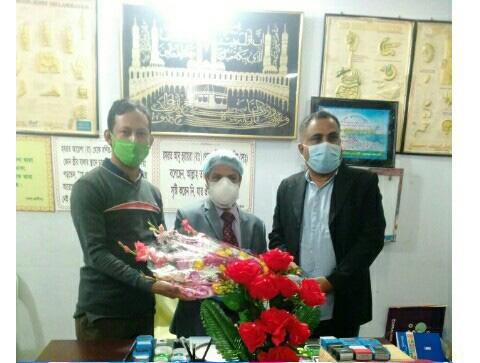 কক্সবাজারের ডেপুটি সিভিল সার্জন ডা. মহিউদ্দিন মোহাম্মদ আলমগীরের জন্মদিন উদযাপন