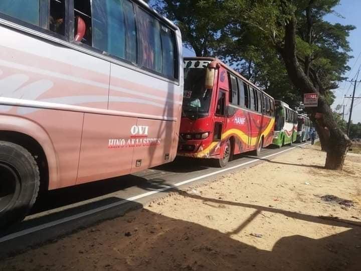 কক্সবাজার থেকে ভাসানচরে রওয়ানা দিল রোহিঙ্গাবাহী ১০টি বাস