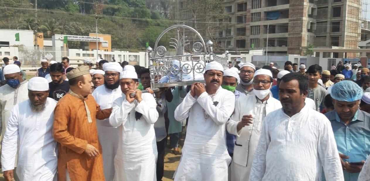 কক্সবাজার পৌর কাউন্সিলর কাজী মোরশেদ আহমদ বাবুর নামাজে জানাযা সম্পন্ন