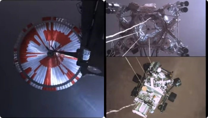 মঙ্গলগ্রহে মহাকাশযান 'পার্সিভারেন্স' নামার শেষ মুহুর্তের ভয়ঙ্কর Video শেয়ার করল NASA
