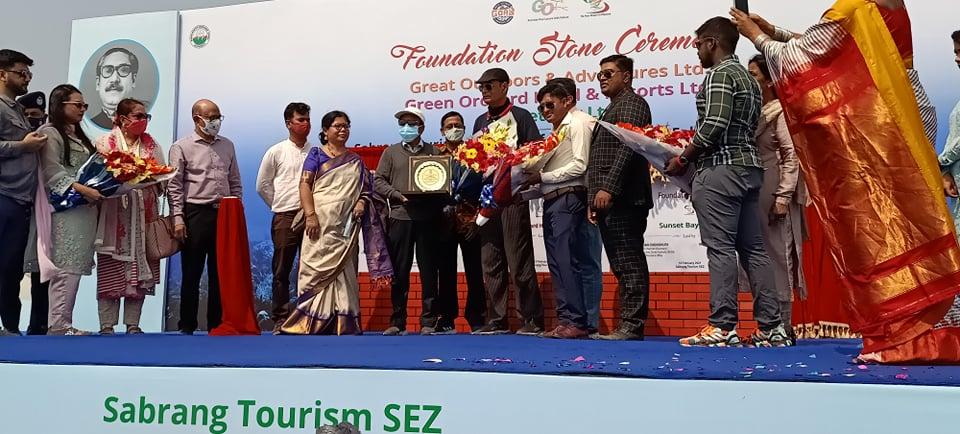 টেকনাফ সাবরাং ট্যুরিজম পার্কে পাঁচ তারকা হোটেল ভিত্তি প্রস্তর স্থাপন করলেন পবন চৌধুরী