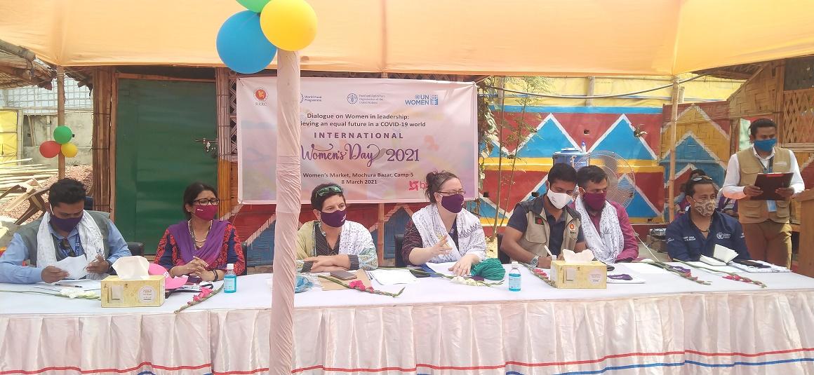 কক্সবাজারের কুতুপালং রোহিঙ্গা ক্যাম্পে আন্তর্জাতিক নারী দিবস পালন