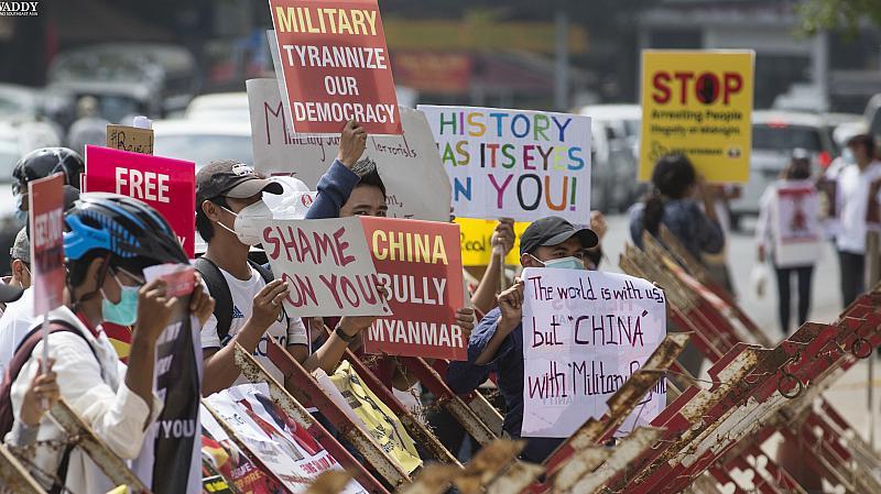 মিয়ানমারে বাড়ছে চীন বিরোধী বিক্ষোভ,পণ্য বয়কটের আহ্বান