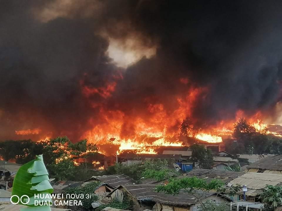 কক্সবাজারের রোহিঙ্গা শিবিরে অগ্নিকাণ্ডের সূত্রপাত গ্যাস সিলিন্ডার থেকে : তদন্ত কমিটির প্রতিবেদন