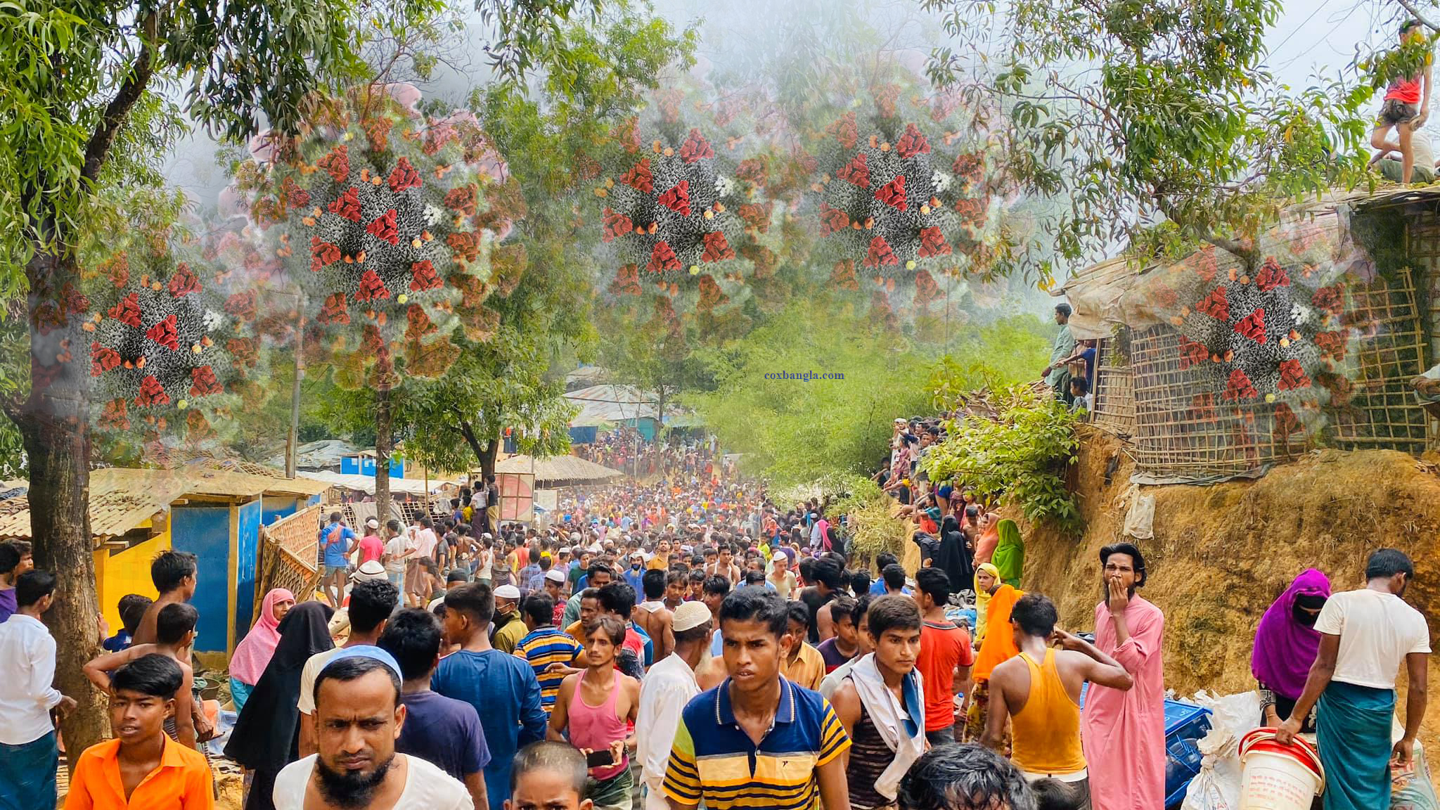 কক্সবাজার রোহিঙ্গা শিবিরে মারাত্মকভাবে ছড়িয়ে পড়ছে করোনা সংক্রমণ : ৭ দিনে আক্রান্ত ১৫০ জন