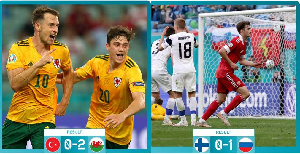 UEFA EURO 2020 : ওয়েলস হারাল তুরস্ককে, রাশিয়া হারিয়ে দিল ফিনল্যান্ডকে